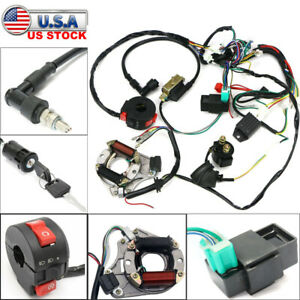 50cc-125cc CDI Wire Harness Stator Assembly Wiring Kit ATV Electric Quad