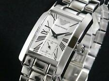 NEW EMPORIO ARMANI STAINLESS STEEL BRACELET SILVER LADIES WATCH AR0146