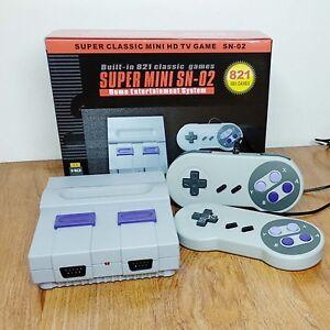 Super Mini HDMI Retro Video Game Console 8Bit Built-in 821 Games with Controller