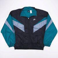 Vintage NIKE Lightweight Zip Up Swoosh Colour Block Track Jacket Mens Size XL