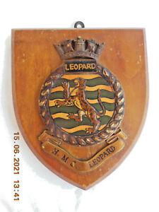 H.M.S. LEOPARD   NAVAL WALL PLAQUE/ CREST / SHIELD