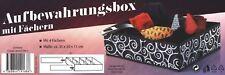 Aufbewahrungsbox 4 Fächer Organizer Faltbox Aufbewahrung Korb Kiste 35x30x11cm