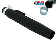 Universal Matt Black Tapered Motorcycle Exhaust Silencer, Custom, Cafe Racer