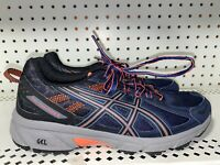 Asics Gel-Venture 6 Womens Athletic Running Shoes Size 8 Blue Orange