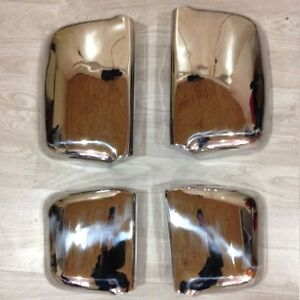 RENAULT Premium Mirror Covers Super Polished Stainless Steel 4 Pcs