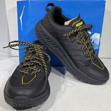 Hoka One One Speedgoat 4 Men's Size 9 Black/Yellow Running Shoes X5-1630