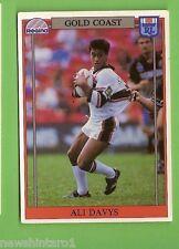 1993 RUGBY LEAGUE CARD #130  ALI DAVYS, GOLD COAST SEAGULLS