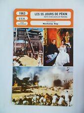 CARTE FICHE CINEMA 1963 LES 55 JOURS DE PEKIN Charlton Heston Ava Gardner David
