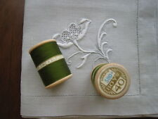 DMC couture 2 bobines ancien fil coton a broder beauvais ALSA n° 40  vert 580