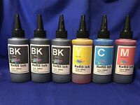 600ml Bulk Refill Ink for HP Epson Canon Brother printer extra 2Black