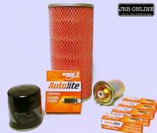 suit TOYOTA HIACE 2RZ-E 2.4L PETROL OIL AIR FUEL FILTER SERVICE+spark plug 98-05