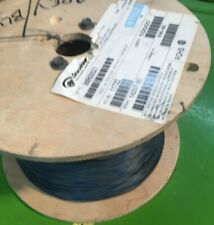 9000 Foot Reel) 22 AWG Stranded Hook Up Wire-  Grey with a Blue Stripe - UL1061