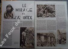 Document photo Mirage de l 'Atlantide MAyas Palenque   1933