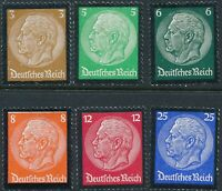Stamp Germany Mi 548-53 Sc 436-41 1934 3rd Reich Death Hindenburg MNH