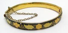 VINTAGE TOLEDO STEEL  Gold & Black Bangle Bracelet