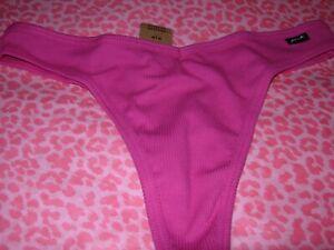 Victorias Secret PINK Sexy Thong String V-Cut LOGO Fuschia XS S M L XL XXL NWT