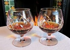 Galway Irish Crystal Mystique Brandy Glasses Balloons 24% Lead (Pair) NEW Boxed