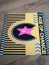 """Age Of Chance Kiss 12"""" Single Very Good Condition.. Yellow sleeve"""