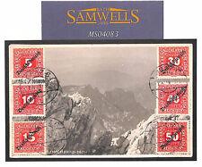 AUSTRIA Graz Postcard VIEW SIDE Franking MOUNTAINS *Estonia* Cachet 1921 MS4083