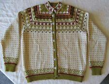 Vintage Viking Knit Handmade in Norway Cardigan Sweater Women's Medium Nordic