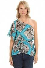 SUGARLIPS Where the Wild Things Are Top Aqua Blouse LARGE NWT