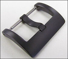 24mm Panatime PVD (Black) Square Watch Buckle - Spring Bar Attachment