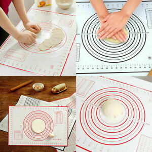 Large Silicone Dough Baking Mat Pastry Rolling Non-Stick Cookies Cake with Brush