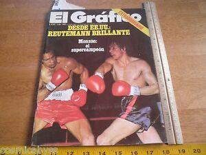 El Grafico Magazine Boca Soccer Argentia boxing Auto Racing Rugby 1974 Adidas