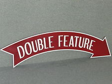 Large Old Fashioned Vintage Style Wood DOUBLE FEATURE Movie Arrow Sign