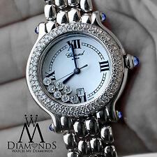 Ladies Chopard Happy Sport Stainless Steel Watch 27/8236-23 W/ Diamonds