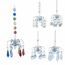 Chandelier Crystal Prisms Wind Chimes Hanging Sun Catcher Window Home Decor
