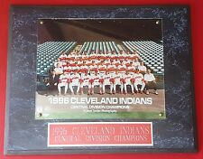 Cleveland Indians 1996 Central Division Champions Wood Plaque MLB RARE!!!