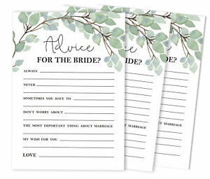 Inkdotpot Bridal Shower Games Advice For The Bride Set Of 50A GreeneryA Mad-ViQ