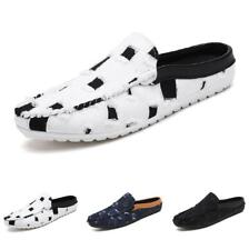 Men's Loafers Slippers Shoes Slip on Backless Canvas Breathable Flats Casual Sz