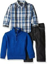 NEW Nautica Baby Boys 3 Piece Set Button Down Shirt Sweater and Pants SIZE 7