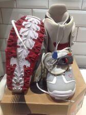 Burton Snowboard Boots Womens Ruler Si Uk Size 6 Red White Grey Ski Snow