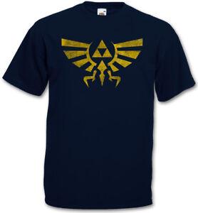 TRIFORCE VINTAGE LOGO T-SHIRT - Legend Link Symbol Game Zelda Triforce T-Shirt