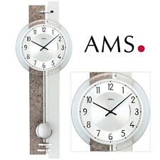 AMS 7440 cuarzo de Reloj pared con Péndulo piedra natural óptica para salón