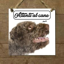 Lagotto romagnolo MOD 3 Attenti al cane Targa cane cartello PIASTRELLA