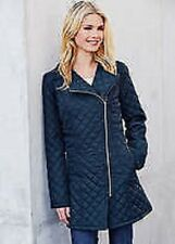Size 16 Kaleidoscope Longline Quilted Navy Blue Biker Coat Winter/Womens/BNWT