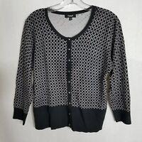 Premise Studio U03 Womens Black Long Sleeve Cardigan Sweater Size Large