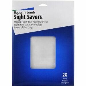 Page Magnifier for Reading by Bausch & Lomb Magna Page Full Page 2X
