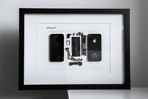 Framed iPhone 4 | Wall Art | Black or White frame | Unique gift for  lovers