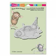 HOUSE MOUSE RUBBER STAMPS CLING CUPCAKE COMA NEW cling STAMP