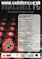 Teamsheet - Walsall v Colchester United 2012/13