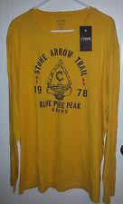 MEN'S CHAPS EXPLORER T-SHIRT Sz XXL 2X Yellow Arrowhead Outdoors NEW graphic