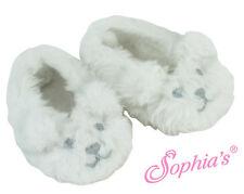 "Fuzzy Polar Bear Face Slipper Slippers fits 18"" American Girl Dolls"