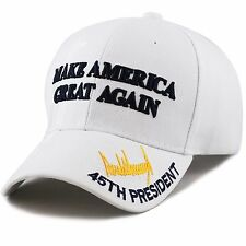 "45th President Trump ""Make America Great Again"" 3D -White"