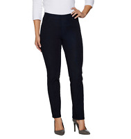 Isaac Mizrahi Live! 24/7 Denim Straight Leg Jeans Dark Indigo Size Petite 12