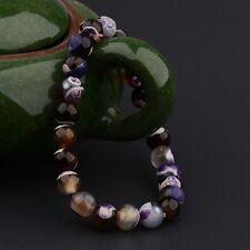 8mm Multi Colour Beaded Cuff Charm Bangle Natural Stone Fashion Bracelet 2017